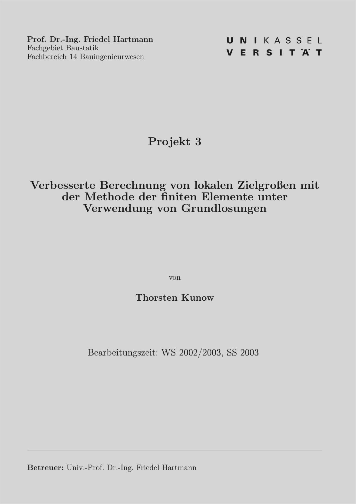 Deckblatt Dissertation Uni Kassel
